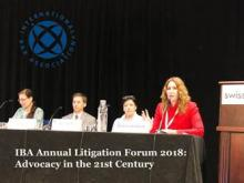 Anna Grishchenkova acted as moderator of the opening session at the IBA Annual Litigation Forum 2018 in Chicago