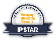 KIAP IP Practice is recommended by IP Stars 2017