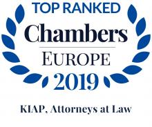 Chambers Europe 2019 Recommends KIAP in Six Practice Areas