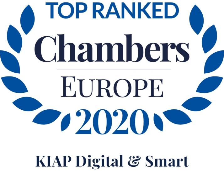Litigation practice of KIAP Digital & Smart in Band 1 of Chambers Europe for the third year in a row