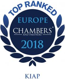 Chambers Europe 2018 Recommends KIAP Litigation Practice in the First Band
