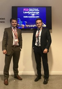 Ilya Ischuk and Anton Samokhvalov represented KIAP at the Annual LawExchange Autumn Conference 2017 in Dublin